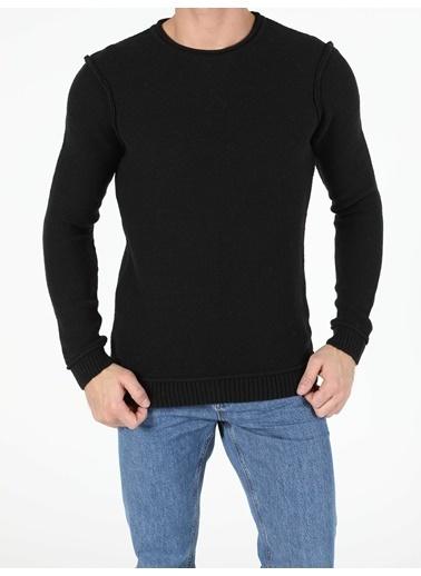 Colin's Regular Fit Erkek Siyah Kazak Siyah